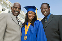 Graduate with Father and Grandfather