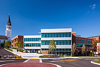 Exterior image of Washington County Free Library in Hagerstown MD by Jeffrey Sauers of Commercial Photographics