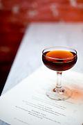 A Manhattan at Fox Liquor Bar in Raleigh, NC.