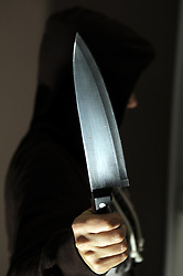 © under license to London News Pictures.06.12.2010 Picture posed by model. A Conservative election pledge that anyone caught carrying a knife could expect a jail term will not be implemented. Picture credit should read Grant Falvey/London News Pictures.
