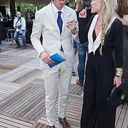 NLD/Amsterdam/20130712 - AFW2013 Zomer editie, modeshow Spijkers & Spijkers, Lauren Verster en partner Jort Kelder