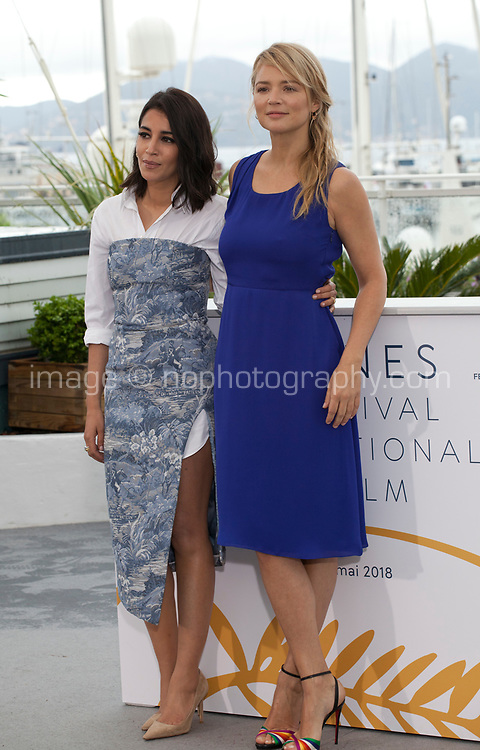 Virginie Efira and Leila Bekhti at the Le Grand Bain (Sink Or Swim) film photo call at the 71st Cannes Film Festival, Sunday 13th May 2018, Cannes, France. Photo credit: Doreen Kennedy