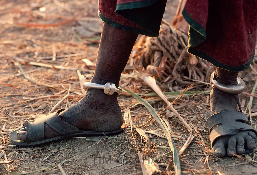 Traditional ankle bangles in Rajasthan, India