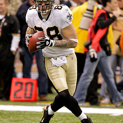 2009 October 18: New Orleans Saints tight end Jeremy Shockey (88) during warm ups prior to kickoff of a 48-27 win by the New Orleans Saints over the New York Giants at the Louisiana Superdome in New Orleans, Louisiana.