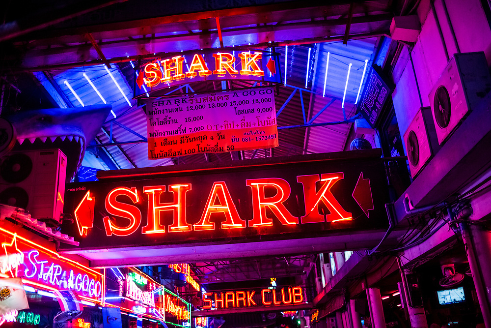 A neon sign for a popular go-go-bar in Pattaya, Thailand.