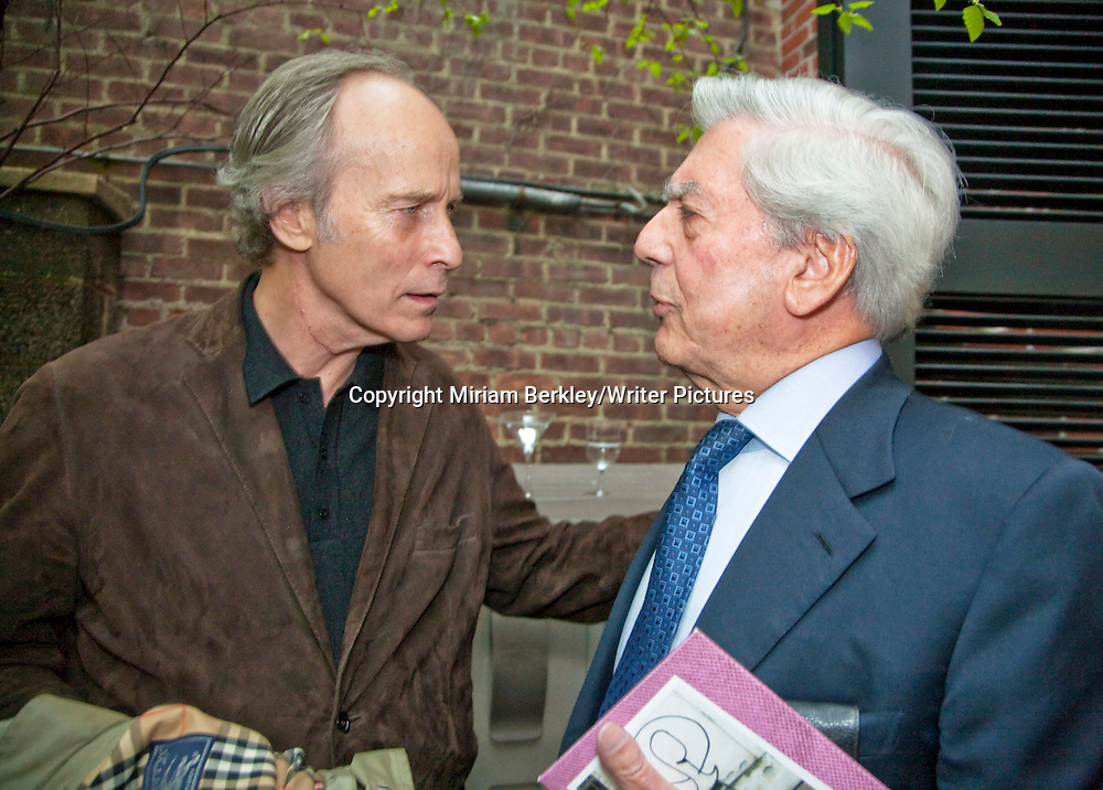 Mario Vargas Llosa and Richard Ford at a party at the Instituto Cervantes during the 2008 PEN Conference in NYC<br /> <br /> Miriam Berkley/Writer Pictures<br /> contact +44 (0)20 822 41564<br /> info@writerpictures.com<br /> www.writerpictures.com