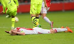 17-09-2015 NED: UEFA Europa League AFC Ajax - Celtic FC, Amsterdam<br /> Davy Klaassen #10 baalt als hij de kans  krijgt om de 2-2 te maken maar valt over zijn eigen benen