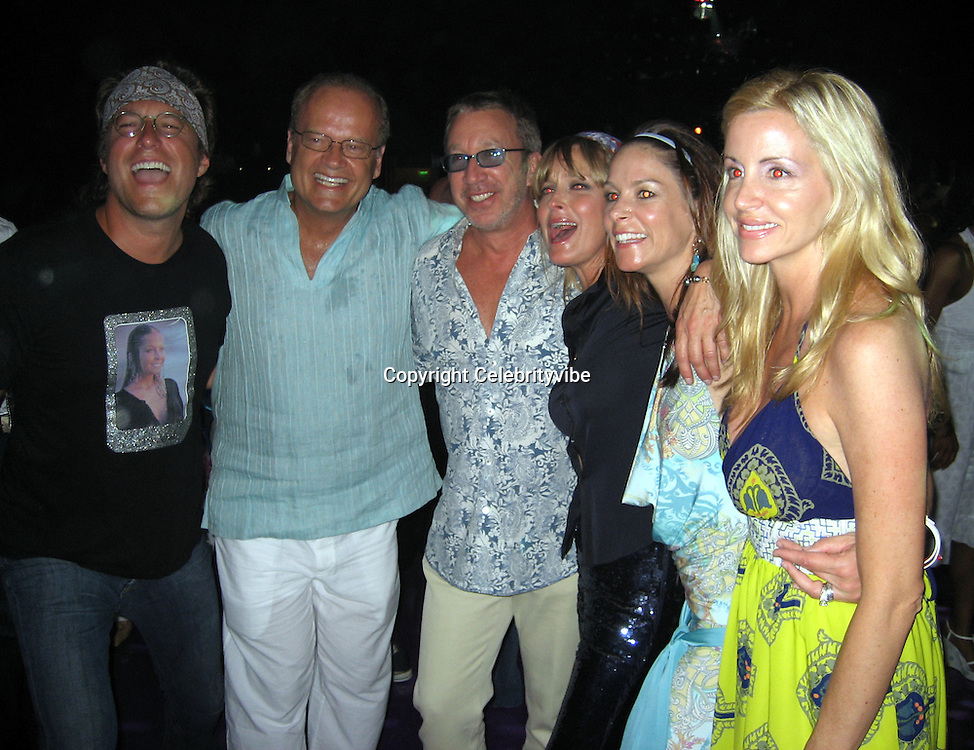 **EXCLUSIVE**.John Corbett, Kalsey Grammer, Tim Allen, Bo Derek, Tim's wife and Kalsey's wife.Silly 70's Party with performances by Aerosmith, Earth Wind, Fire & Village People & Stevie Wonder.Opening of Cain at The Cove Hotel.Grand Ballroom.Atlantis Hotel.Paradise Island, Bahamas.Saturday, May 12, 2007 .Photo By Celebrityvibe.To license this image please call (212) 410 5354; or.Email: celebrityvibe@gmail.com ;.