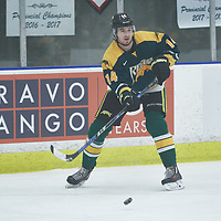 1st year forward, Tate Coughlin (14) of the Regina Cougars during the Men's Hockey Home Game on Fri Oct 12 at Co-operators Center. Credit: Arthur Ward/Arthur Images