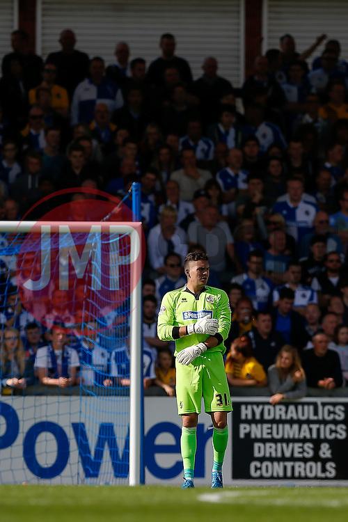Goalkeeper Lee Nicholls of Bristol Rovers - Mandatory byline: Rogan Thomson/JMP - 07966 386802 - 12/09/2015 - FOOTBALL - Memorial Stadium - Bristol, England - Bristol Rovers v Accrington Stanley - Sky Bet League 2.
