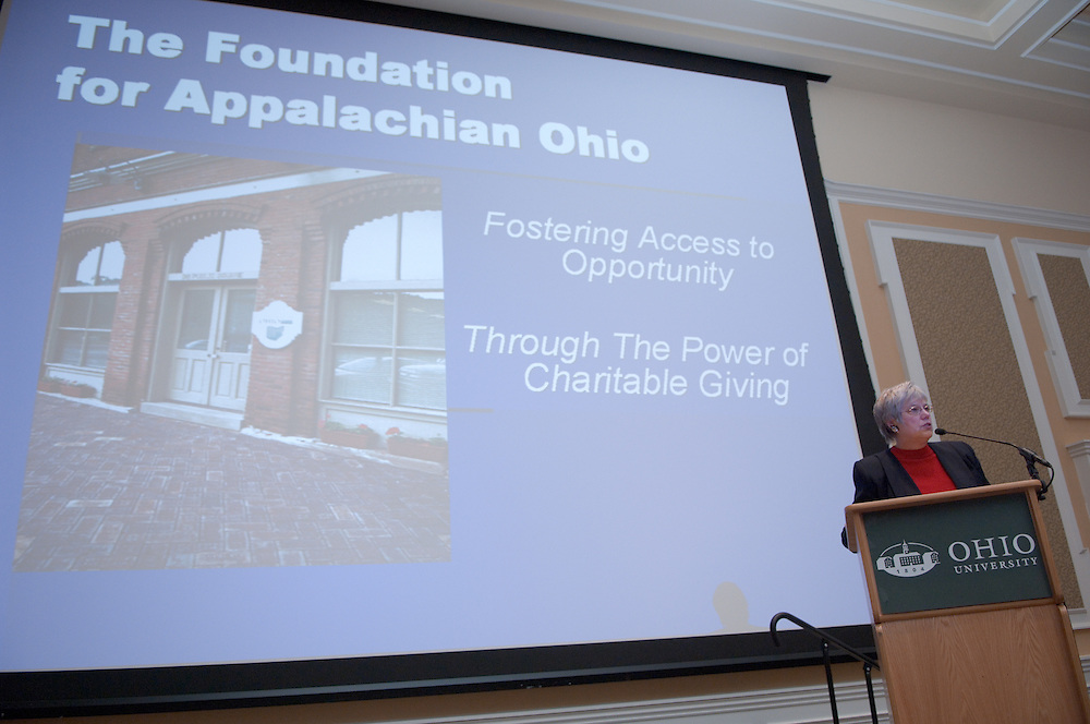 Appalachian Scholars Open House Program in New Baker...Leslie Lilly, President/Chief Executive Officer of the Foundation for Appalachian Ohio.
