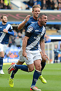 Birmingham City defender Paul Robinson celebrates scoring equaliser during the Sky Bet Championship match between Birmingham City and Queens Park Rangers at St Andrews, Birmingham, England on 17 October 2015. Photo by Alan Franklin.
