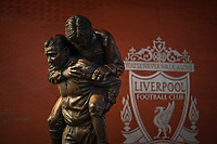 Football - 2019 / 2020 Emirates FA Cup - Fourth Round, Replay: Liverpool vs. Shrewsbury Town<br /> <br /> Bob Paisley memorial statue, at Anfield.<br /> <br /> COLORSPORT/TERRY DONNELLY