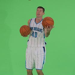 26 September 2008: New Orleans Hornets forward Ryan Bowen (40) juggles basketballs during media day for the New Orleans Hornets at the New Orleans Arena in New Orleans, LA.