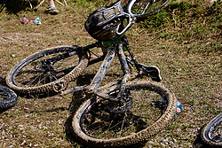 Bike at 5th European Championship in the 4-cross, on June 27, 2009, in Sport centre Pale, Ajdovscina, Slovenia. Due to bad weather conditions, the final part of the competition was cancelled. The results from the qualification part were called official. (Photo by Vid Ponikvar / Sportida)