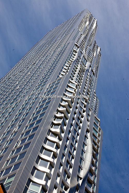 New York , The Beekman tower new Gehry building under construction in lower manhattan  area. Pace university
