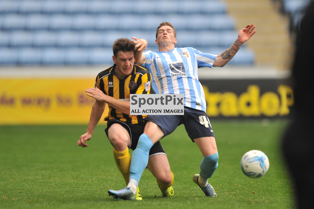 Shrewsburys Matt Tootle brings down Coventrys Ryan Kent,  bCoventry City v Shreswsbury Ricoh Arena, Football League One, Saturday 3rd October 2015