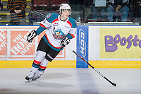 KELOWNA, CANADA - JANUARY 2: Ryan Olsen #27 of the Kelowna Rockets warms up on the ice against the  Victoria Royals at the Kelowna Rockets on January 2, 2013 at Prospera Place in Kelowna, British Columbia, Canada (Photo by Marissa Baecker/Shoot the Breeze) *** Local Caption ***