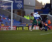 Photo: Matt Bright/Sportsbeat Images.<br /> Crystal Palace v Sheffield Wednesday. Coca Cola Championship. 15/12/2007.<br /> Richard Hinds of Sheffield Wednesday scores past  Julian Speroni of Crystal Palace