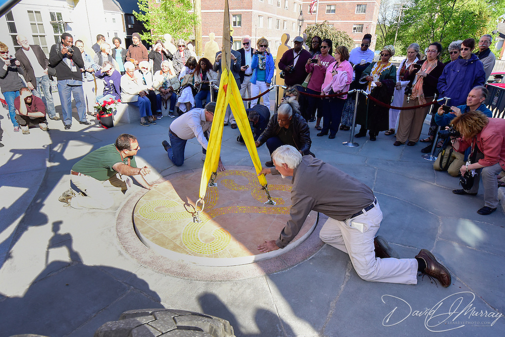 Sealing the crypt at the African Burying Ground
