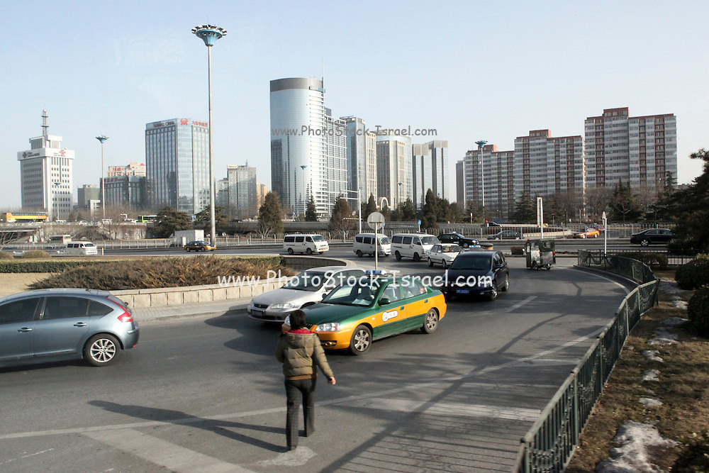 China, Beijing, cityscape Bust intersection