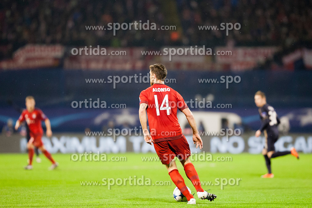 Xabi Alonso #14 of FC Bayern Munchen during football match between GNK Dinamo Zagreb and Bayern München in Group F of Group Stage of UEFA Champions League 2015/16, on December 9, 2015 in Stadium Maksimir, Zagreb, Croatia. Photo by Urban Urbanc / Sportida