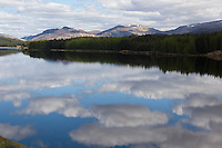Clouds reflected in the waters of Loch Laggan, Scotland, May 2009