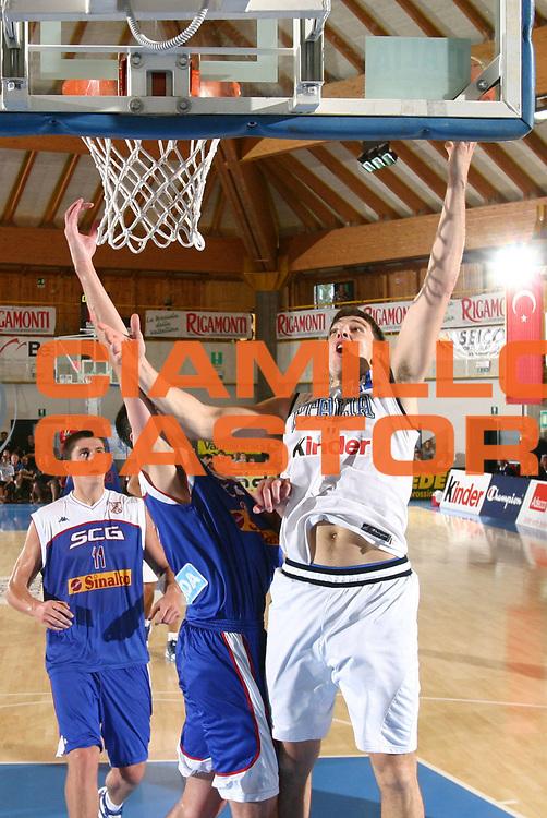 DESCRIZIONE : Bormio Trofeo Internazionale Diego Gianatti Italia Serbia <br />GIOCATORE : Michelori<br />SQUADRA : Italia <br />EVENTO : Bormio Trofeo Internazionale Diego Gianatti Italia Serbia <br />GARA : Italia Serbia<br />DATA : 22/07/2006 <br />CATEGORIA : Tiro  <br />SPORT : Pallacanestro <br />AUTORE : Agenzia Ciamillo-Castoria/M.Marchi<br />Galleria : FIP Nazionale Italiana <br />Fotonotizia : Bormio Trofeo Internazionale Diego Gianatti Italia Serbia<br />Predefinita :