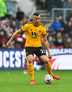 Romain Saiss (27) of Wolverhampton Wanderers during the The FA Cup 5th round match between Bristol City and Wolverhampton Wanderers at Ashton Gate, Bristol, England on 17 February 2019.