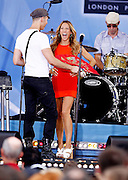 "NEW YORK - JULY 23:  Singer Sheryl Crowperforms on ABC's ""Good Morning America"" at Rumsey Playfield on July 23, 2010 in New York City.  (Photo by Joe Kohen/WireImage)"