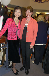 Left to right, MARIZA KAIN and SUZY TOPOLSKI wife of Dan Topolski at a performance by the London Childrens Ballet of 'The Little Princess' at The Peacock Theatre, Portugal Street, London WC2 on 19th May 2005.<br /><br />NON EXCLUSIVE - WORLD RIGHTS