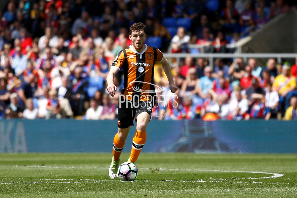 Hull City Defender Andrew Robertson during the Premier League match between Crystal Palace and Hull City at Selhurst Park, London, England on 14 May 2017. Photo by Andy Walter.