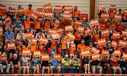 20-05-2018 NED: Netherlands - Slovenia, Doetinchem<br /> First match Golden European League / Dutch support, block boards