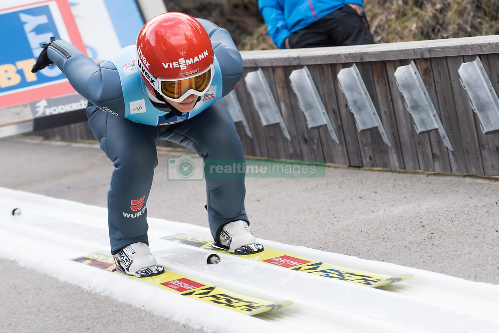 February 8, 2019 - Ljubno, Savinjska, Slovenia - Katharina Althaus of Germany on first competition day of the FIS Ski Jumping World Cup Ladies Ljubno on February 8, 2019 in Ljubno, Slovenia. (Credit Image: © Rok Rakun/Pacific Press via ZUMA Wire)