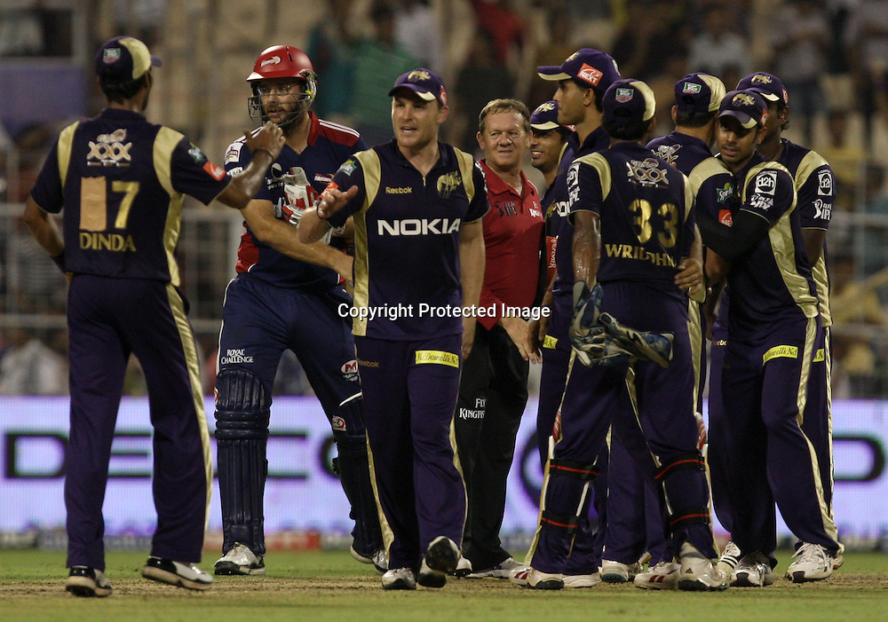 Kolkata Knight Riders Player Celebrates After Won The Match During The Indian Premier League - 39th match Twenty20 match |2009/10 season Played at Eden Gardens, Kolkata 7 April 2010 - day/night (20-over match)