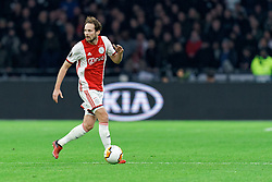 Daley Blind #17 of Ajax in action during the Europa League match R32 second leg between Ajax and Getafe at Johan Cruyff Arena on February 27, 2020 in Amsterdam, Netherlands