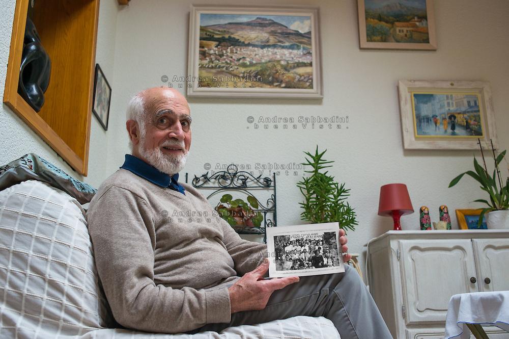 Saint Nazaire, 23/10/2014. Georges Leclair, nato a Nantes nel 1934, la sua famiglia era fuggita dall'Italia durante il fascismo - Georges Leclair, his family had fled from Italy during the fascism