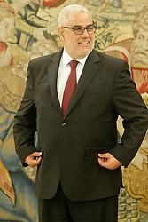 05.06.2015, Palacio de la Zarzuela, Madrid, ESP, Felipe VI von Spanien trifft Abdelilah Benkiran, der Chef der Regierung des Königreichs Marokko zu Besuch in Spanien, im Bild Head of the Government of the Kingdom of Morocco, Mr. Abdelilah Benkiran, // during their attendance at the high Level Meeting at the Palacio de la Zarzuela in Madrid, Spain on 2015/06/05. EXPA Pictures © 2015, PhotoCredit: EXPA/ Alterphotos/ Acero<br /> <br /> *****ATTENTION - OUT of ESP, SUI*****