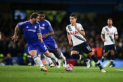 Erik Lamela of Tottenham Hotspur on the attack early in the second half - Mandatory byline: Jason Brown/JMP - 02/05/2016 - FOOTBALL - London, Stamford Bridge - Chelsea v Tottenham Hotspur - Barclays Premier League