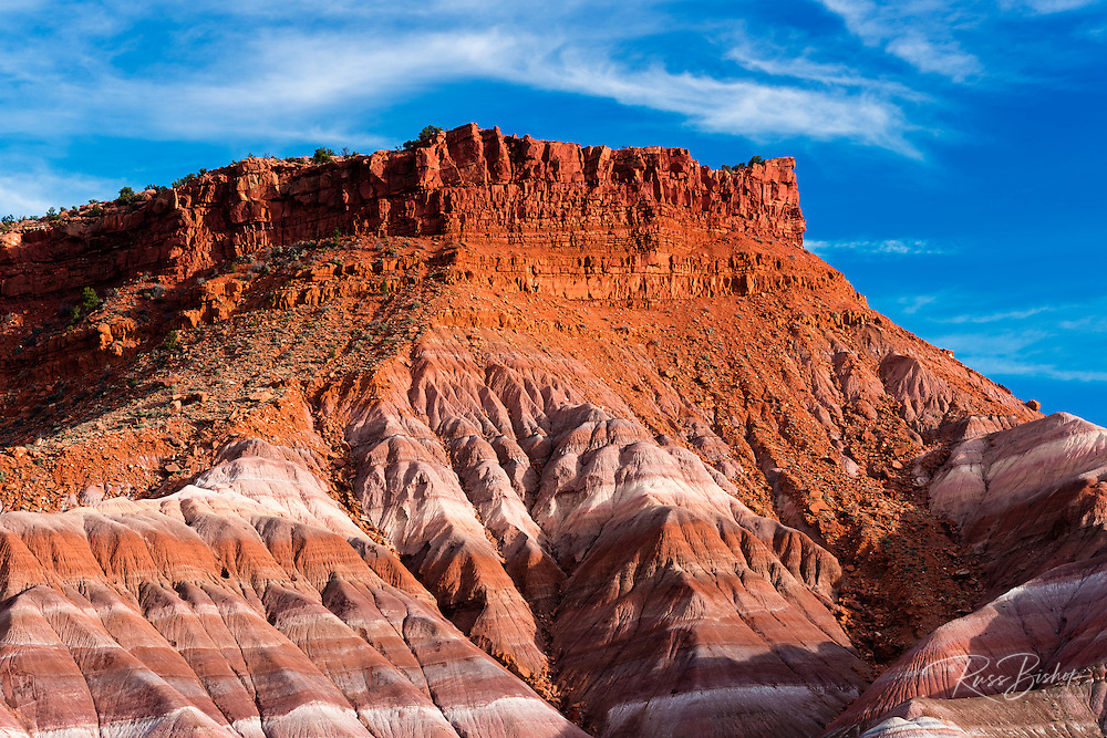 Evening light on the Cockscomb, Grand Staircase-Escalante National Monument, Utah USA