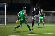 Roarie Deacon opens the scoring putting Dundee 1-0 up - Dundee v Hibernian, SPFL Under 20 Development League at Links Park, Montrose<br /> <br />  - &copy; David Young - www.davidyoungphoto.co.uk - email: davidyoungphoto@gmail.com