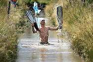THE SPMK WORLD BOG SNORKELLING CHAMPIONSHIPS HELD AT THE WAEN RHYDD PEAT BOG IN LLANWRTYD WELLS, POWYS. pic by Andrew Orchard