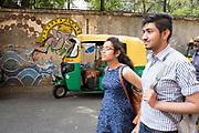 Street murals in New Delhi, India.