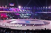 PYEONGCHANG-GUN, SOUTH KOREA - FEBRUARY 09: The athletes of Korea during the Opening Ceremony of the PyeongChang 2018 Winter Olympic Games at PyeongChang Olympic Stadium on February 9, 2018 in Pyeongchang-gun, South Korea. Photo by Nils Petter Nilsson/Ombrello     ***BETALBILD***