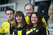Burton Albion fans during the second round or the Carabao EFL Cup match between Burton Albion and Aston Villa at the Pirelli Stadium, Burton upon Trent, England on 28 August 2018.