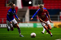 Gemma Evans of Bristol City is marked by Lucy Graham of Everton Women - Mandatory by-line: Ryan Hiscott/JMP - 17/02/2020 - FOOTBALL - Ashton Gate Stadium - Bristol, England - Bristol City Women v Everton Women - Women's FA Cup fifth round