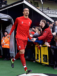 LONDON, ENGLAND - Sunday, March 17, 2019: Liverpool's Joel Matip runs out for the the pre-match warm-up before the FA Premier League match between Fulham FC and Liverpool FC at Craven Cottage. (Pic by David Rawcliffe/Propaganda)