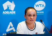 Ashleigh Barty of Australia talks to the media during All Access Hour at the 2020 Adelaide International WTA Premier tennis tournament Photo Rob Prange / Spain ProSportsImages / DPPI / ProSportsImages / DPPI