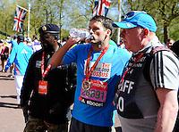 Michael Owen completes the race<br /> The Virgin Money London Marathon 2014<br /> 13 April 2014<br /> Photo: Javier Garcia/Virgin Money London Marathon<br /> media@london-marathon.co.uk