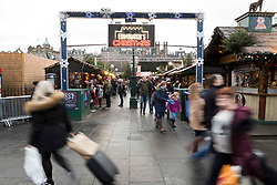 Pictured: <br /> Princes Street in Edinburgh was crowded as shoppers headed to the Christmas Market for those last minute extras for friends and relatives. <br /> <br /> Ger Harley | EEm 23 December 2018